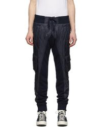Greg Lauren Navy Paul And Shark Edition Quilted Cargo Pants - Blue