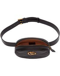 Gucci ブラック GG マーモント 2.0 ベルト バッグ