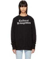 Marcelo Burlon Black 'cultural Armageddon' Are Sweatshirt