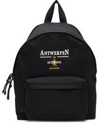 Vetements Black Antwerp Logo Backpack
