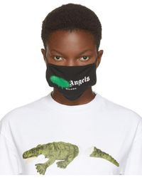Palm Angels - ブラック & グリーン スプレー ロゴ マスク - Lyst
