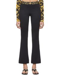 Versace Black Greek Key Lounge Pants
