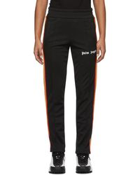 Palm Angels Black Rainbow Slim Track Trousers