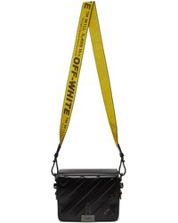 Off-White c/o Virgil Abloh - Black Padded Diagonal Flap Bag - Lyst