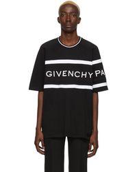 Givenchy T-shirt noir Oversized Logo Band