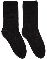 Fendi - Black Forever Socks - Lyst
