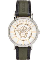Versace シルバー Essential 腕時計 - メタリック