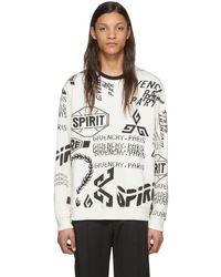 Givenchy - ブラック And ホワイト Spirit プリント スウェットシャツ - Lyst