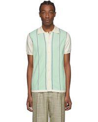 CASABLANCA オフホワイト And グリーン Leblon シャツ