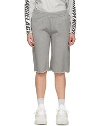 MM6 by Maison Martin Margiela Ssense Exclusive Sweat Shorts - Grey
