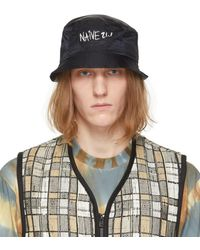 Song For The Mute Black New Era Edition Nylon 'naive' Bucket Hat - Blue
