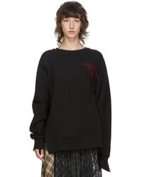 ROKH Black Logo Pinch Detail Sweatshirt