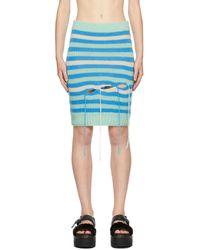 Charles Jeffrey LOVERBOY ーンブルー ストライプ Slash スカート