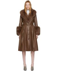 Saks Potts Brown Foxy Coat