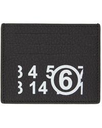 MM6 by Maison Martin Margiela ブラック ロゴ カード ケース