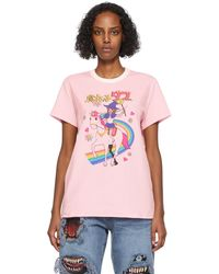 Doublet Velour Anime Character T-shirt - Pink