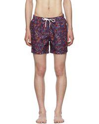 Onia Multicolour Butterflies Charles Swim Shorts - Purple