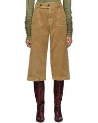 Lanvin Tan Panelled Jeans - Natural