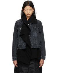 Sacai Denim & Knit Jacket - Black