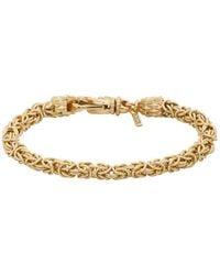 Emanuele Bicocchi Bracelet dore Byzantine - Métallisé