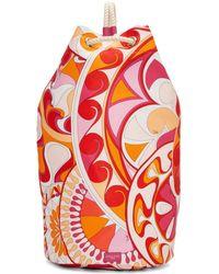 Emilio Pucci - Pink Nigeria Printed Rope Duffle Bag - Lyst