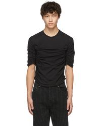 Mugler Black Gathered T-shirt