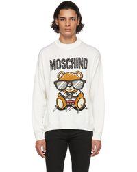 Moschino ホワイト ロゴ セーター