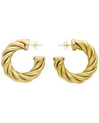 Laura Lombardi Gold Large Spira Hoop Earrings - Metallic