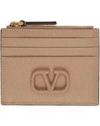Valentino Garavani - コレクション ピンク Vlogo ジップ カード ケース - Lyst
