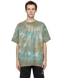 John Elliott - T-shirt à motif tie-dye vert University - Lyst
