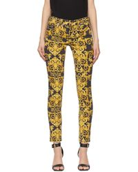Versace Jeans Couture - ブラック New Baroque ジーンズ - Lyst