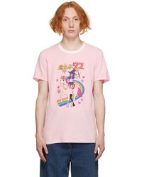 Doublet ピンク Anime T シャツ