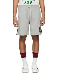 Gucci | Grey Logo Band Shorts | Lyst