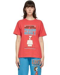 Marc Jacobs Peanuts Edition レッド Snoopy T シャツ