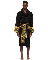 Versace Black I Heart Baroque Bath Robe