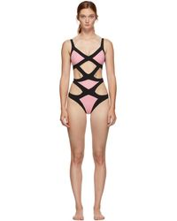 Agent Provocateur ピンク And ブラック Mazzy ワンピース スイムスーツ