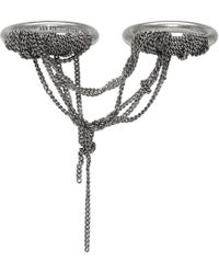 Ann Demeulemeester - Silver Double Chain Ring - Lyst