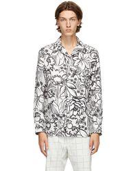 Fendi White Joshua Vides Edition Silk Shirt - Multicolour