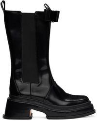 ShuShu/Tong ブラック ミッド カーフ ブーツ