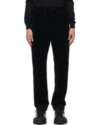 Fendi Black Piqué 'forever ' Lounge Pants