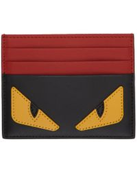 Fendi - Black And Red Bag Bugs Card Holder - Lyst