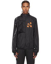 Off-White c/o Virgil Abloh ブラック & オレンジ Active ロゴ ランニング ジャケット