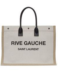 Saint Laurent - Rive Gauche Canvas Tote - Lyst