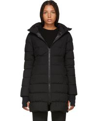 Herno - Black Fitted Puffer Coat - Lyst