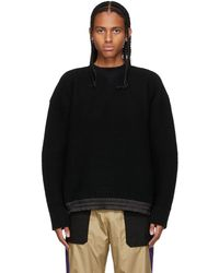 Sacai ブラック ニット セーター