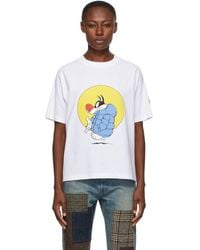 Moncler Genius 1 Moncler Jw Anderson Navy Looney Tunes Edition Sylvester T-shirt - White