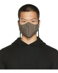 Rick Owens Grey Cotton Mask