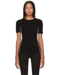 Rosetta Getty - Black Jersey Reversed T-shirt - Lyst