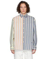 JW Anderson オーバーサイズリネンシャツ - ブルー