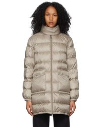 Moncler - トープ Abricotier ダウン コート - Lyst